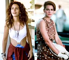 Julia Roberts before and after in Pretty Woman