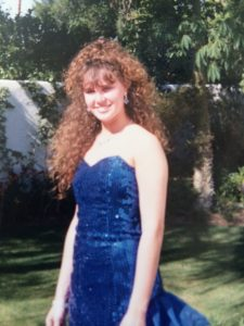 Authentic 80s prom picture - my shoes matched the dress